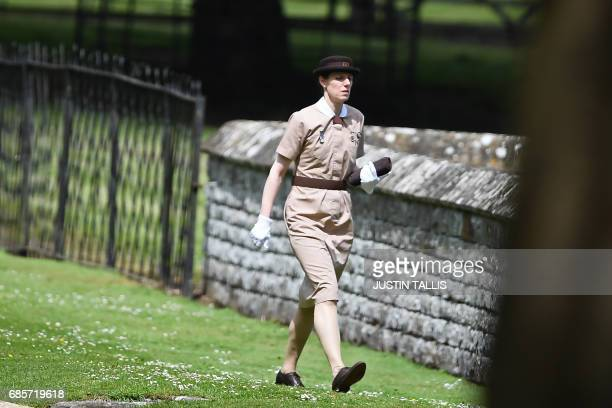 Nanny to Prince George and Princess Charlotte of Cambridge Maria Borrallo walks to the church ahead of the wedding of Pippa Middleton and James...