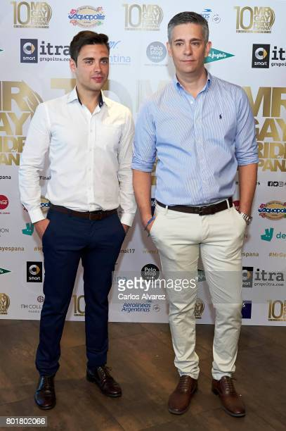 Nano Garcia and Juan Martin Boll attend Mr Gay Pride Spain 2017 press conference at the El Corte Ingles Preciados store on June 27 2017 in Madrid...