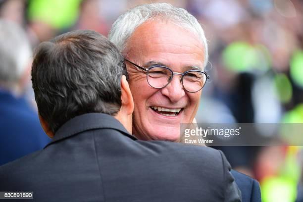 Nantes coach Claudio Ranieri and Marseille coach Rudi Garcia before the Ligue 1 match between FC Nantes and Olympique Marseille at Stade de la...