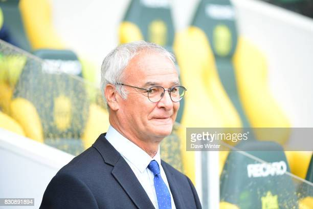 Nantes coach Claudio Ranieri during the Ligue 1 match between FC Nantes and Olympique Marseille at Stade de la Beaujoire on August 12 2017 in Nantes