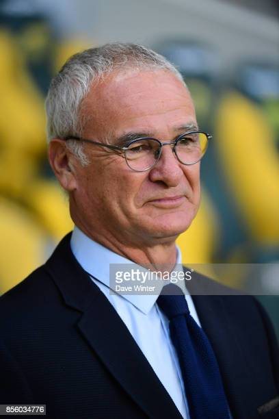Nantes coach Claudio Ranieri during the Ligue 1 match between Nantes and Metz at Stade de la Beaujoire on September 30 2017 in Nantes France