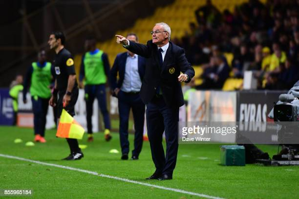 Nantes coach Claudio Ranieri during the Ligue 2 match between Paris FC and Nimes on September 29 2017 in Paris France