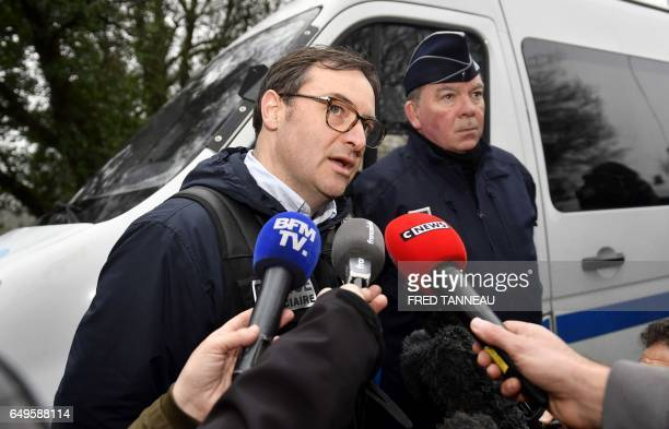 Nantes criminal police chief JeanRené Personnic gives a press conference on March 8 2017 in PontdeBuis western of France A crowbar was the murder...