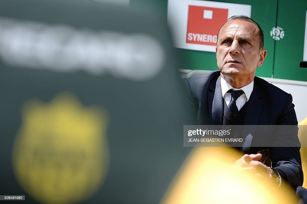 Nantes' French Armenian head coach Michel Der Zakarian is pictured prior to the French L1 football match between Nantes and Nice on April 30, 2016 at the Beaujoire stadium in Nantes, western France.