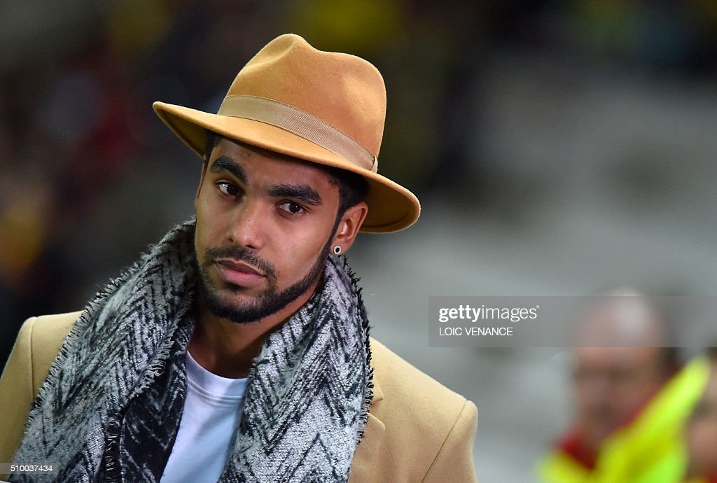 Nantes' French defender Levy Djidji answers journalists prior to the French L1 football match Nantes vs Lorient, at the la Beaujoire stadium in Nantes, western France, on February 13, 2016. / AFP / LOIC VENANCE