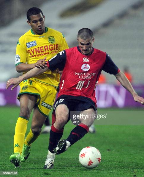 French league 1 football match nantes vs lille on april 4 in the