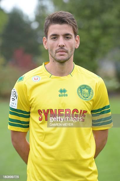 Nantes' Serbian forward Filip Djordjevic poses at 'La Joneliere' the football club's headquarters in La ChapellesurErdre Nantes' suburb on September...