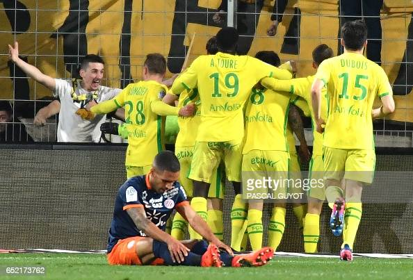 FBL-FRA-LIGUE1-MONTPELLIER-NANTES : News Photo