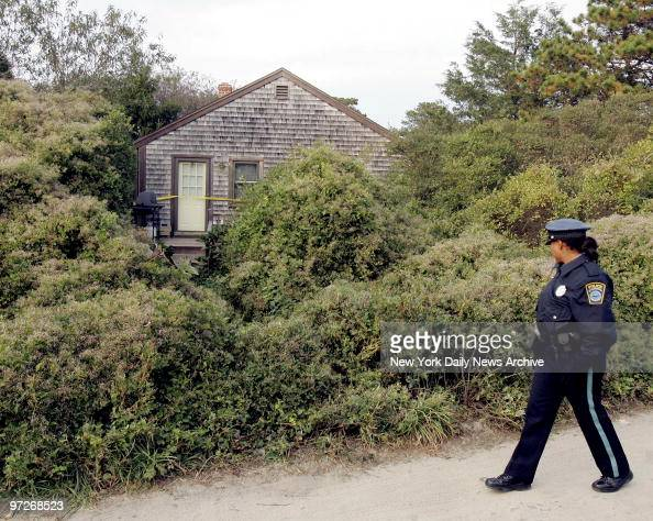 Nantucket Police Officer Janine Mauldin walks outside the ...