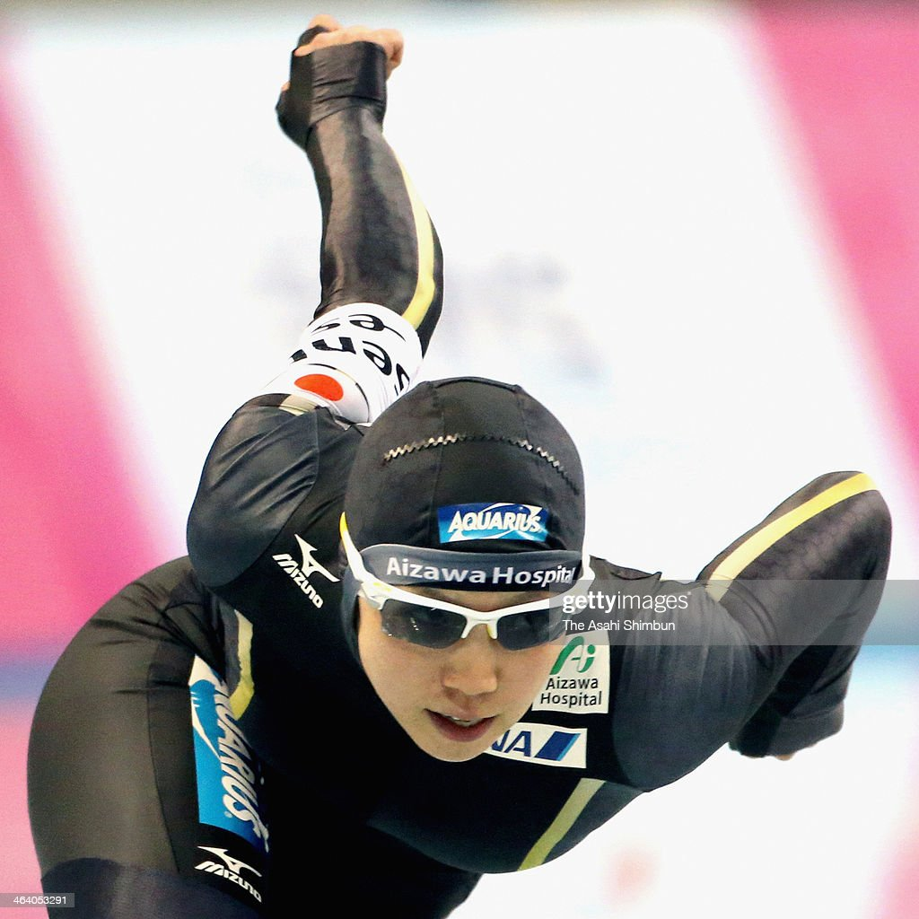 Nao Kodaira competes in the second round of ladies 500m during Essent ISU World Sprint Speed Skating Championships 2014 at M Wave on January 19, 2014 in Nagano, Japan.
