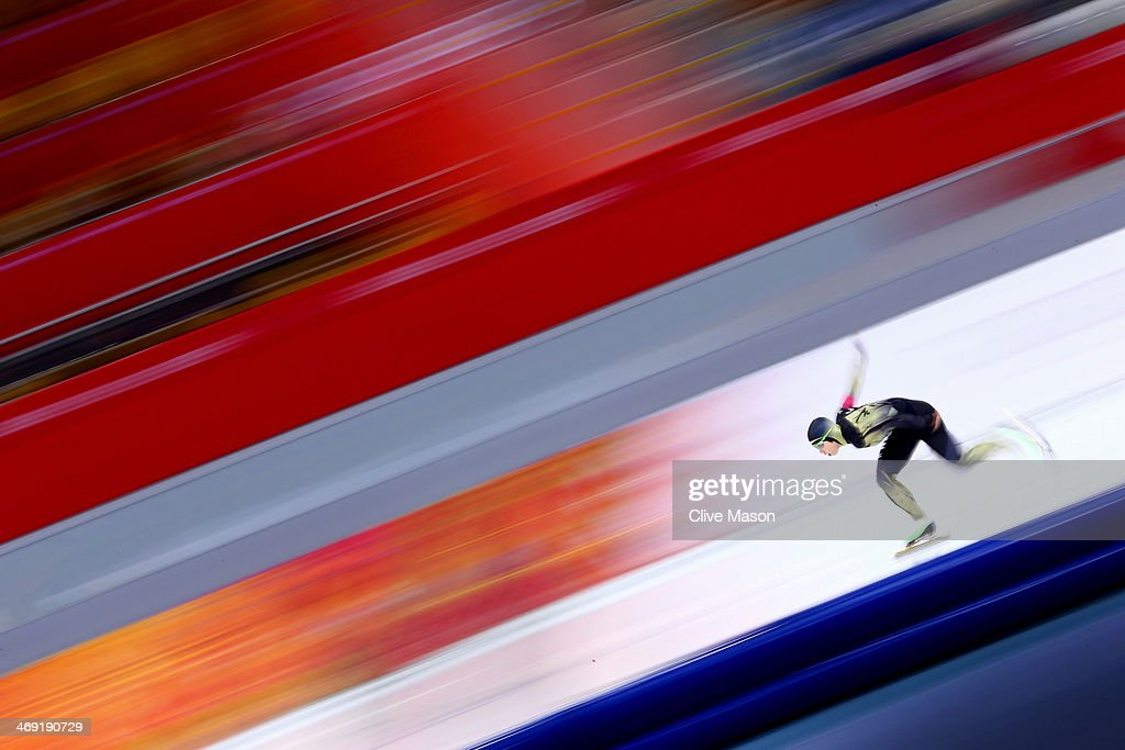 Nao Kodaira of Japan competes during the Women's 1000m Speed Skating event on day 6 of the Sochi 2014 Winter Olympics at Adler Arena Skating Center...