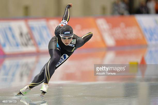 Nao Kodaira of Japan competes in ladies 500m during Essent ISU World Sprint Speed Skating Championships 2014 at M Wave on January 19 2014 in Nagano...
