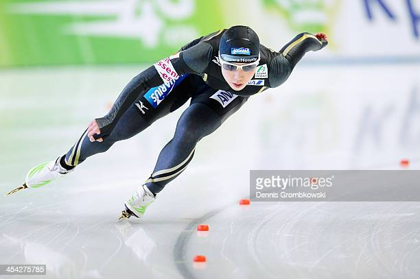 Nao Kodaira of Japan competes in the Ladies 1000m Division A competition during Day 3 of the Essent ISU World Cup on December 8 2013 in Berlin Germany