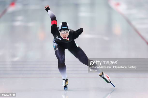 Nao Kodaira of Japan competes in the Ladies 1000m during day 1 of the ISU World Cup Speed Skating at Soermarka Arena on March 11 2017 in Stavanger...