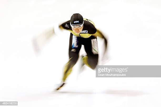 Nao Kodaira of Japan competes in the Ladies 500m race during day 3 of the ISU World Single Distances Speed Skating Championships held at Thialf Ice...