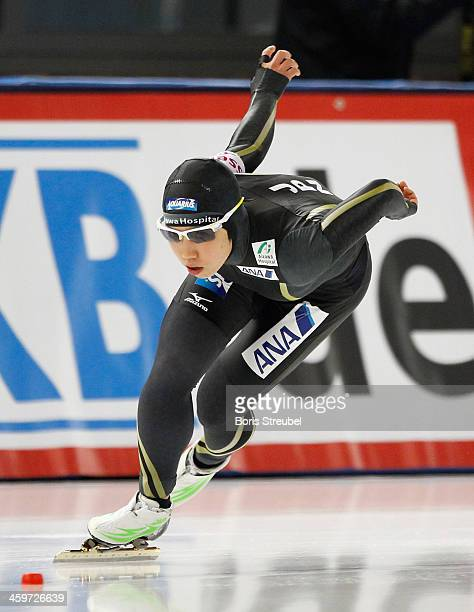Nao Kodaira of Japan competes in the women's 1000m Division A race during day three of the Essent ISU World Cup Speed Skating on December 8 2013 in...