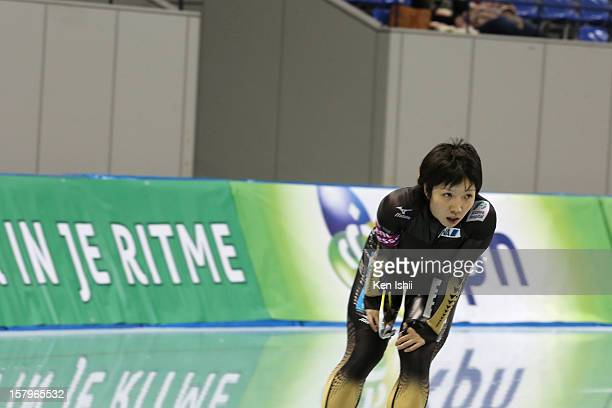 Nao Kodaira of Japan competes in the Women's 1000m during day one of the ISU World Cup Speed Skating at MWave on December 8 2012 in Nagano Japan