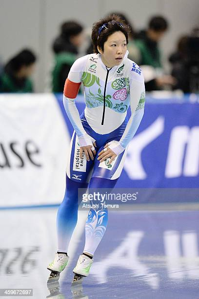 Nao Kodaira of Japan competes in the women's 1000m during Japan Speed Skating Olympic Qualifying Championships at M Wave on December 29 2013 in...