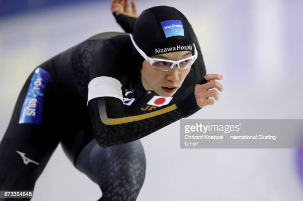 Nao Kodaira of Japan competes on Day Three during the ISU World Cup Speed Skating at the Thialf on November 12 2017 in Heerenveen Netherlands