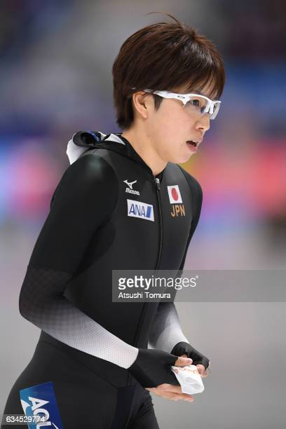 Nao Kodaira of Japan looks on during the ISU World Single Distances Speed Skating Championships Gangneung Test Event For Pyeongchang 2018 Olympic...