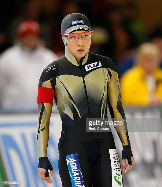 Nao Kodaira of Japan looks on prior to the women's 500m Division A race during day one of the Essent ISU World Cup Speed Skating on December 5 2014...