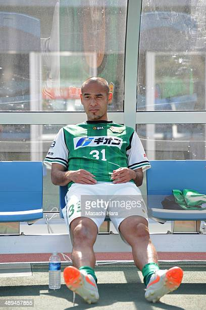 Naohiro Takahara of SC Sagamihara looks on after the JLeague third division match between SC Sagamihara and AC Nagano Parceiro at Sagamihara Gion...