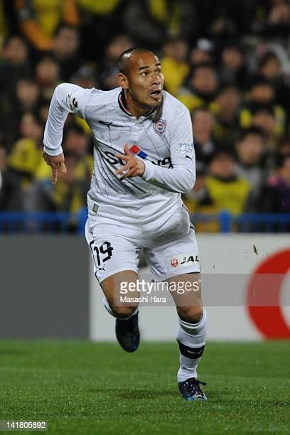 Naohiro Takahara of Shimizu SPulse in action during the JLeague match between Kashiwa Reysol and Shimizu SPulse at Hitachi Kashiwa Soccer Stadium on...