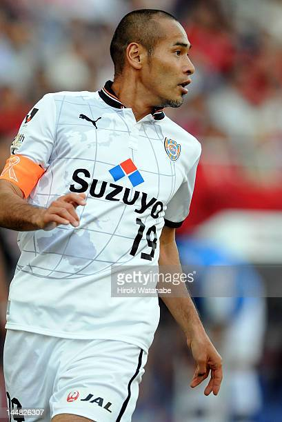 Naohiro Takahara of Shimizu SPulse in action during the JLeague match between Urawa Red Diamonds and Shimizu SPulse at Saitama Stadium on May 19 2012...