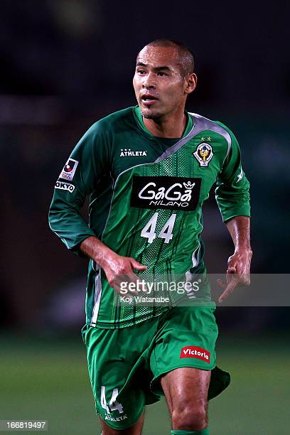 Naohiro Takahara of Tokyo Verdy in action during the JLeague second division match between Tokyo Verdy and Montedio Yamagata at Ajinomoto Stadium on...