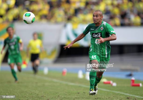 Naohiro Takahara of Tokyo Verdy in action during the JLeague second division match between Tokyo Verdy and JEF United Chiba at Komazawa Stadium on...