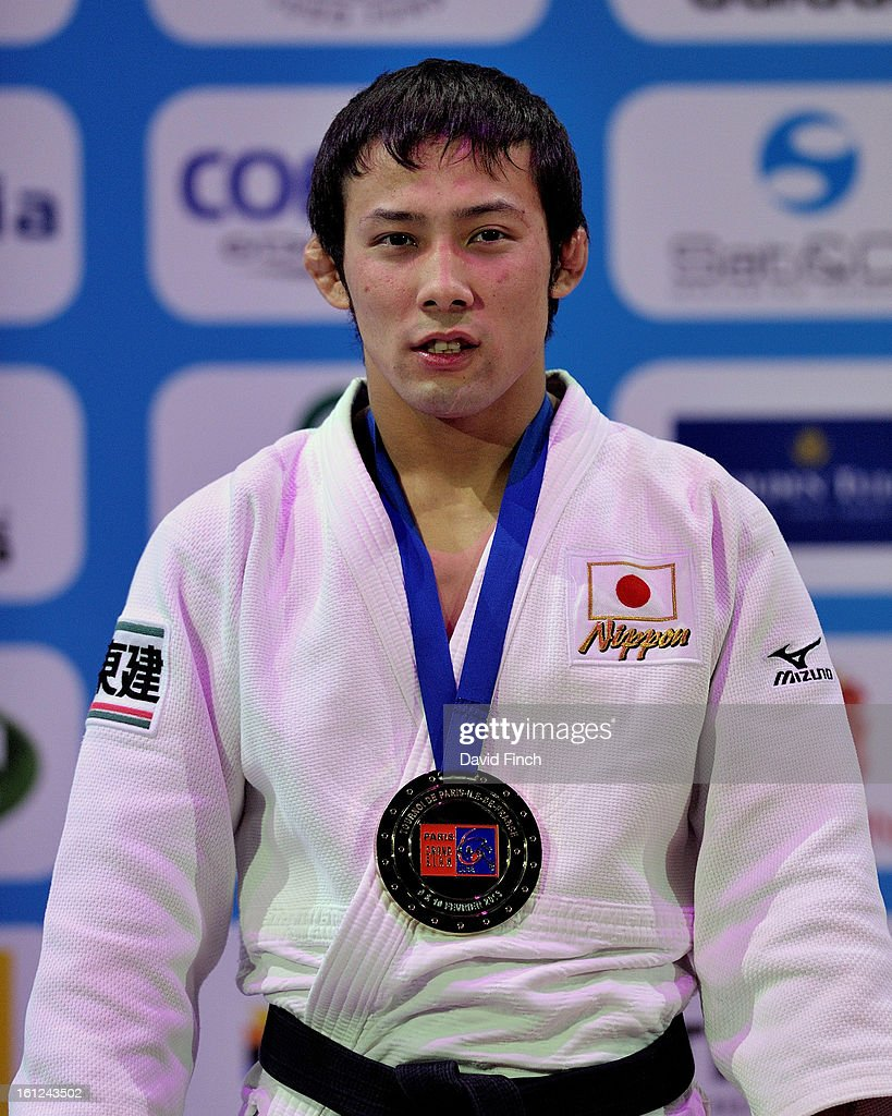 Naohisa Takato of Japan was presented with the u60kgs gold medal during the Paris Grand Slam on day 1 February 09, 2013 at the Palais Omnisports de Paris, Bercy, Paris, France.