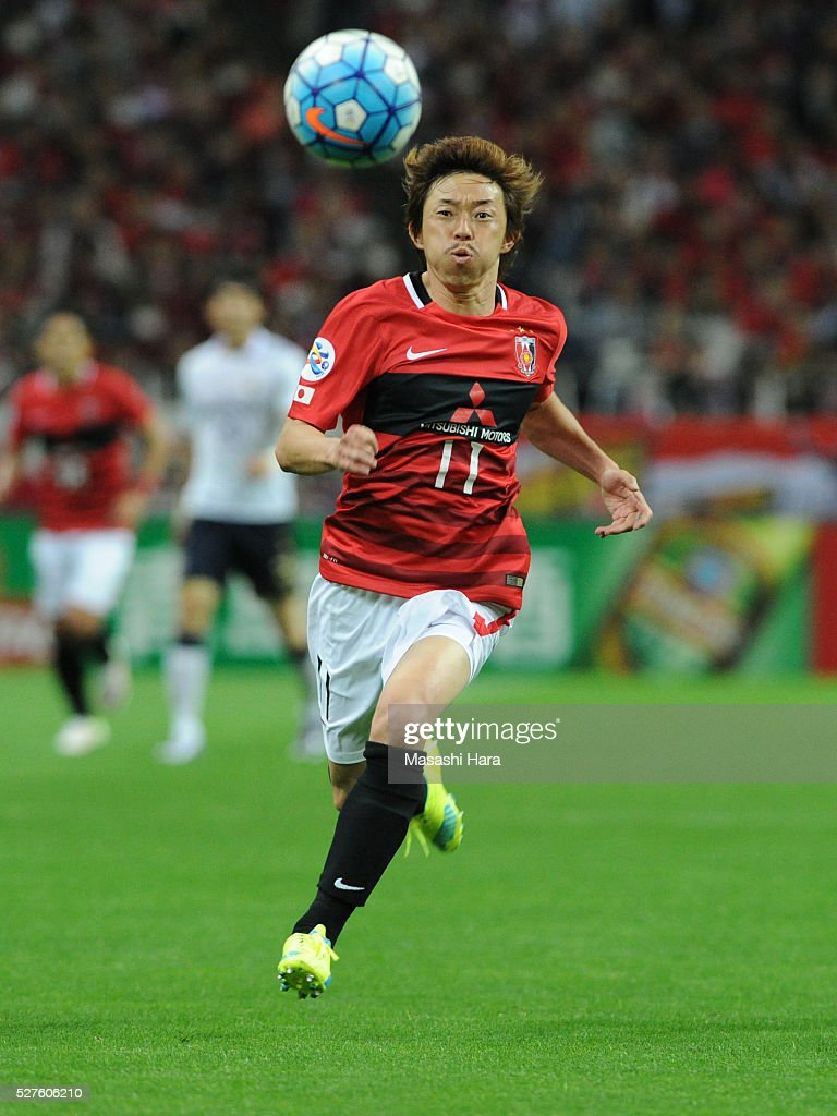 <a gi-track='captionPersonalityLinkClicked' href=/galleries/search?phrase=Naoki+Ishihara&family=editorial&specificpeople=6849862 ng-click='$event.stopPropagation()'>Naoki Ishihara</a> #11 of Urawa Red Diamonds in action during the AFC Champions League Group H match between Urawa Red Diamonds and Pohang Steelers at the Saitama Stadium on May 3, 2016 in Saitama, Japan.