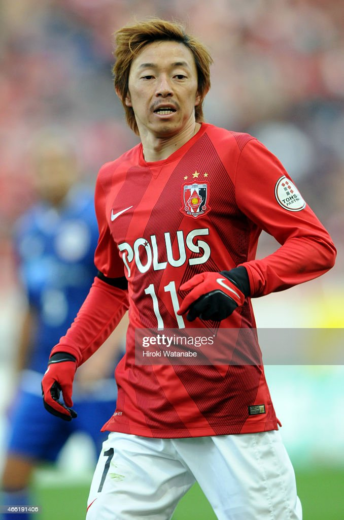 <a gi-track='captionPersonalityLinkClicked' href=/galleries/search?phrase=Naoki+Ishihara&family=editorial&specificpeople=6849862 ng-click='$event.stopPropagation()'>Naoki Ishihara</a> of Urawa Red Diamonds in action during the J.League match between Urawa Red Diamonds and Montedio Yamagata at Saitama Stadium on March 14, 2015 in Saitama, Japan.
