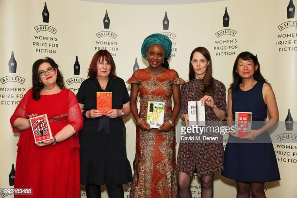 Naomi Alderman Linda Grant Ayobami Adebayo Gwendoline Riley and Madeleine Thien attend the Baileys Women's Prize For Fiction Awards 2017 at The Royal...