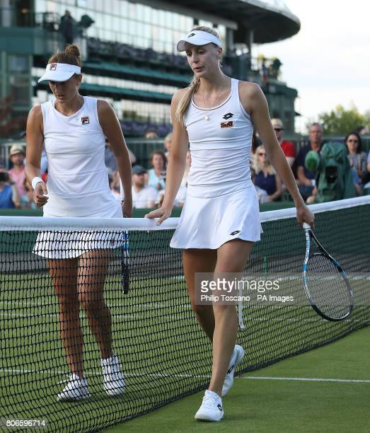 Naomi Broady after losing to IrinaCamelia Begu on day one of the Wimbledon Championships at the All England Lawn Tennis and Croquet Club Wimbledon