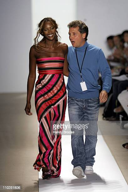Naomi Campbell and Atil Kutoglu designer during Olympus Fashion Week Spring 2006 Atil Kutoglu Runway at Bryant Park in New York City New York United...