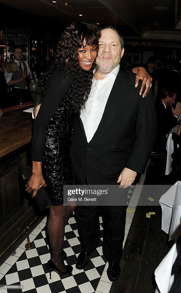 <a gi-track='captionPersonalityLinkClicked' href=/galleries/search?phrase=Naomi+Campbell&family=editorial&specificpeople=171722 ng-click='$event.stopPropagation()'>Naomi Campbell</a> (L) and Chairman of The Weinstein Company <a gi-track='captionPersonalityLinkClicked' href=/galleries/search?phrase=Harvey+Weinstein&family=editorial&specificpeople=201749 ng-click='$event.stopPropagation()'>Harvey Weinstein</a> attend The Weinstein Company Dinner Hosted By Grey Goose in celebration of BAFTA at Dean Street Townhouse on February 10, 2012 in London, England.