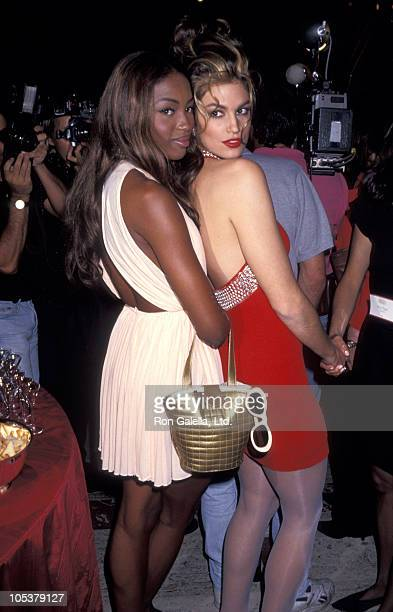 Naomi Campbell and Cindy Crawford during Revlon Unforgettable Women August 19 1991 at Lincoln Center in New York City NY United States