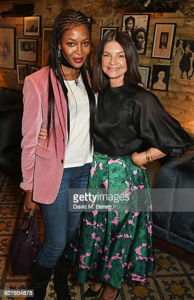 Naomi Campbell and Dame Natalie Massenet attend The Fashion Awards in partnership with Swarovski nominees' lunch hosted by the British Fashion...