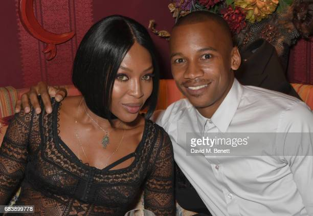 Naomi Campbell and Eric Underwood attend the 'Can't Stop Won't Stop A Bad Boy Story' dinner hosted by Sean 'Diddy' Combs Naomi Campbell presented by...