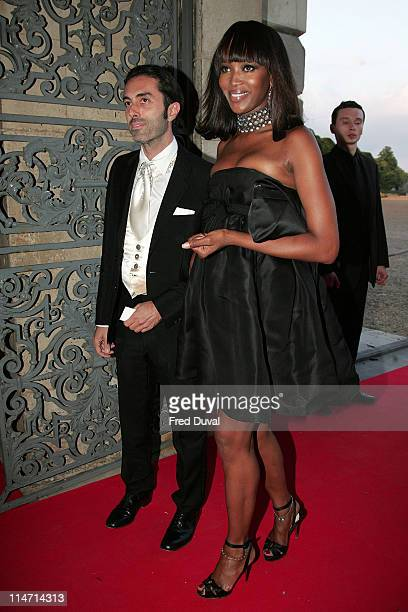 Naomi Campbell and Giambattista Valli during Raisa Gorbachev Foundation Party Red Carpet at Hampton Court Palace in London United Kingdom