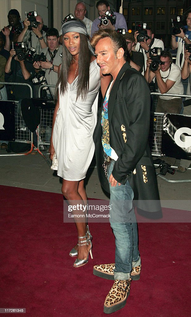 Naomi Campbell and John Galliano during GQ Men of the Year Awards - Outside Arrivals at Royal Opera House in London, Great Britain.