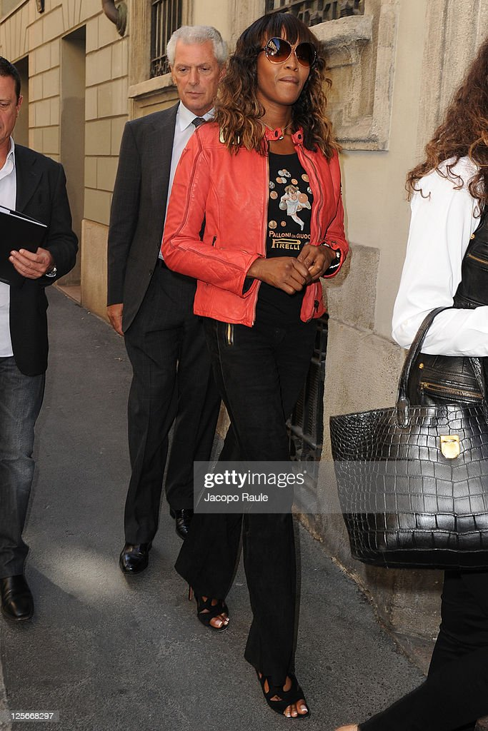 <a gi-track='captionPersonalityLinkClicked' href=/galleries/search?phrase=Naomi+Campbell&family=editorial&specificpeople=171722 ng-click='$event.stopPropagation()'>Naomi Campbell</a> and Marco Tronchetti Provera are seen on September 20, 2011 in Milan, Italy.