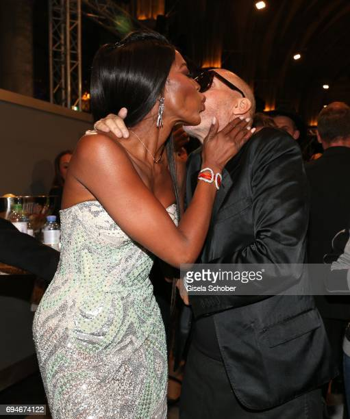 Naomi Campbell and Michel Comte during the Life Ball 2017 after party at City Hall on June 10 2017 in Vienna Austria