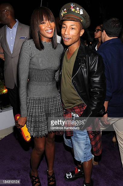 Naomi Campbell and Pharrell Williams attend The Kingdom of Morocco and Maybach dinner in celebration of Art Basel with Maria and Bill Bell Jeffrey...