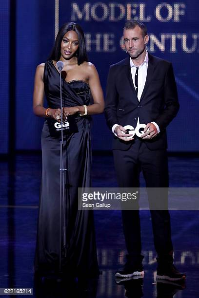 Naomi Campbell and Philipp Plein are seen on stage at the GQ Men of the year Award 2016 show at Komische Oper on November 10 2016 in Berlin Germany