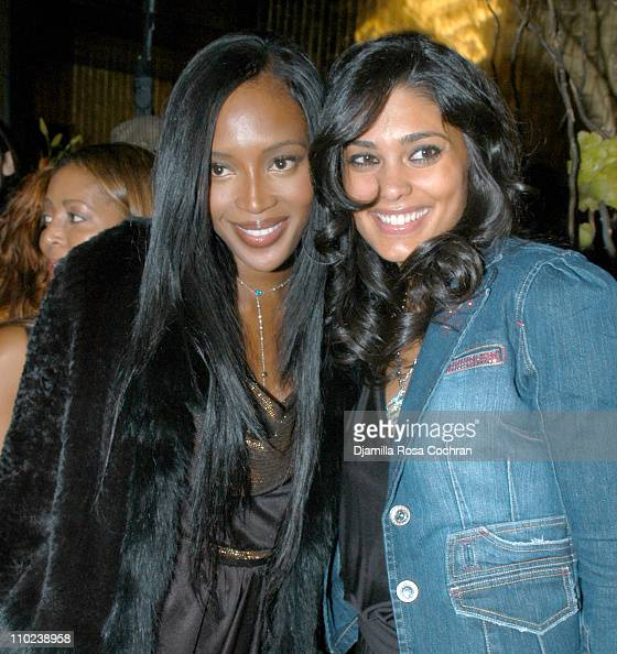Naomi Campbell and Rachel Roy during Patricia Field for the House of Rocawear Lounge at Ono at the Hotel Gansevort in New York City New York United...