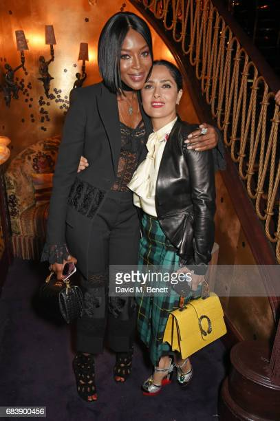 Naomi Campbell and Salma Hayek attend the 'Can't Stop Won't Stop A Bad Boy Story' dinner hosted by Sean 'Diddy' Combs Naomi Campbell presented by...
