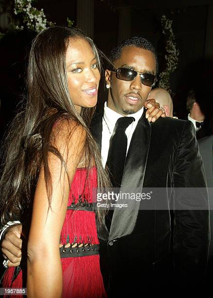 Naomi Campbell and Sean 'P Diddy' Combs attend the Costume Institute Benefit Gala sponsored by Gucci April 28 2003 at The Metropolitan Museum of Art...