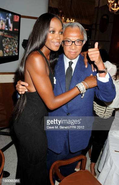 Naomi Campbell and Sir David Tang attend as Naomi Campbell hosts an Olympic Celebration Dinner in partnership with Fashion For Relief Interview...